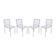 Leisuremod Almeda Acrylic Clear Transparent Dining Chair, Set of 4