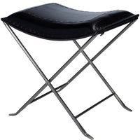 Butler Industrial Chic Accent Stool In Black Finish 3722034