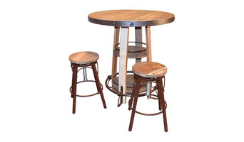 Bayshore Pub Table and Chairs, 3-Piece Set