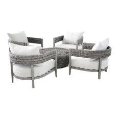 5 Piece Wicker Seating Set