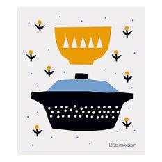 - Swedish Dishcloth Yellow & Blue Bowls - Dish Towels
