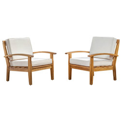 Vintage Transitional Outdoor Lounge Chairs by GDFStudio