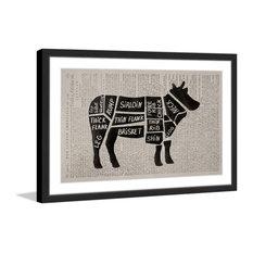 """Beef Cuts II"" Framed Painting Print, 24""x16"""