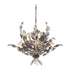Multicolored chandeliers houzz elk group international brillare 6 light chandelier with multicolor crystal florets chandeliers aloadofball Choice Image