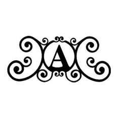 Village Wrought Iron House Plaque Letter A