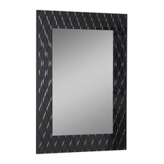 Decor Wonderland   Strands Modern Bathroom Mirror   Bathroom Mirrors