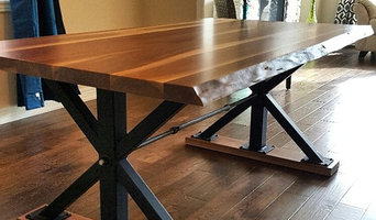Industrial X-Base Live Edge Walnut Dining Table