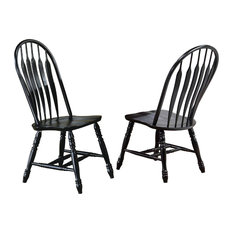 Comfort Back Dining Chairs | Set of 2 | Antique Black
