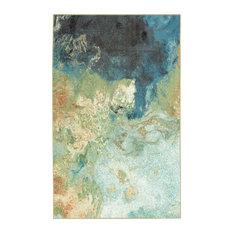 Aurora Marble Rug, Blue, 5'x8'