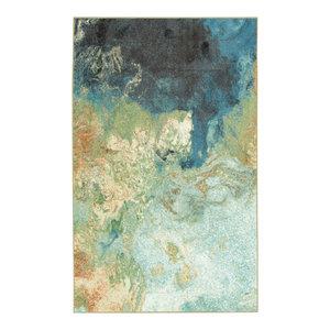 Aurora Marble Rug, Blue, 7'6x10'