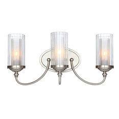 Hardware House Lexington 3 Light Wall Fixture, Satin Nickel