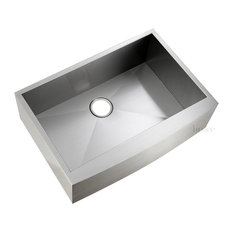 """Luxier AFS30-18Z Stainless Steel Farmhouse Apron Single-Bowl Sink, 30"""""""