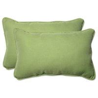 Pillow Perfect 590790 Indoor-Outdoor Tweed Lime Rectangular Throw Pillow,