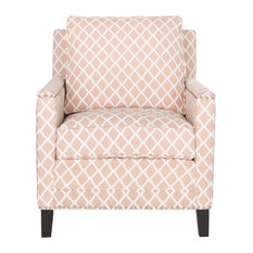 Buckler Club Chair, Peach Pink
