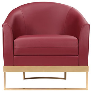Club Brass and Leather Armchair