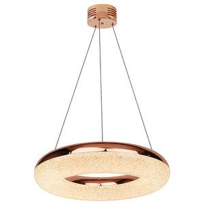Chase Ring LED Pendant Ceiling Light, Copper