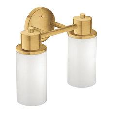 "Moen DN0762 12.95""W 2 Light Bathroom Fixture - Gold"