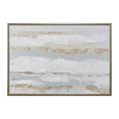 Madison Park Strato Hand Embellishment Framed Canvas With Gold Foil