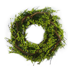 - Spring Rattan Wreath Small Green (30cmD) - Wreaths and Garlands