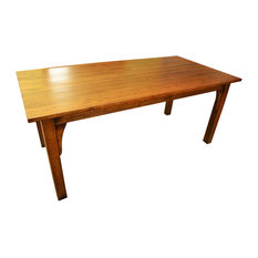 Arts and Crafts Style Mission Solid Oak 6' Dining Table