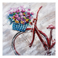 """""""A Lovely Sunday Morning"""" Hand Painted Canvas Art, 30""""x30"""""""