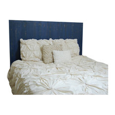 Handcrafted Headboard, Leaner Style, Navy Blue, Queen