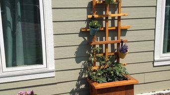 Handcrafted Western Red Cedar Trellis Planter