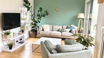 MERE NATURE - Décoration et aménagement d'un salon - 30m²