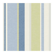 Raya Blue Linen Stripe Wallpaper Bolt