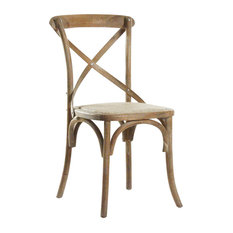 Zentique   Parisienne Cafe Chair, Limed Gray   Dining Chairs