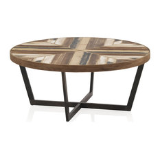 Lleida Wooden and Iron Coffee Table