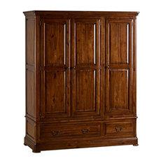 Cranbrook Solid Oak Hardwood Triple Wardrobe, 3-Door