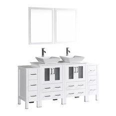 """72"""" Bosconi Double Vanity, White"""
