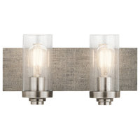 Kichler Dalwood Bathroom Vanity Light 2-Light in Classic Pewter