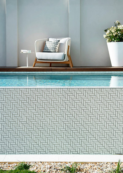 Modern Pool by Collected Interiors