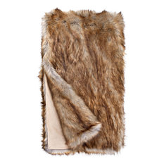 "Limited Edition Faux Fur Throw, Tawny Fox, 60"" x 86"""