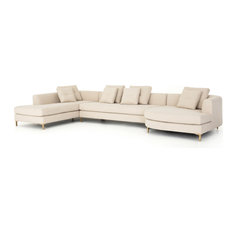 Glenna 3-Piece Left Arm Sectional with Bumper Chaise