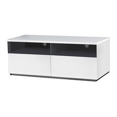 Cristallino High Gloss White Lacquer Entertainment Center