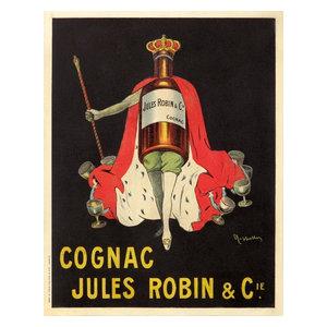 Cognac Albert Robin Bird Beer Wine French Vintage Advertisement Art Poster Print