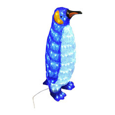 Premier Acrylic Standing Penguin Christmas LED Light Decoration, 65 cm
