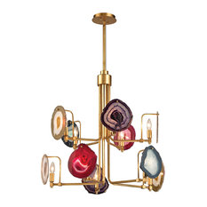 Dimond Lighting Gallery - Ten Light 2-Tier Chandelier, Antique Gold Leaf Finish