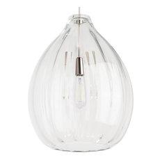Tech Lighting Harper Pendant, Clear Glass, Satin Nickel