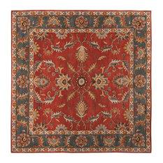 surya surya caesar classic traditional square brick 4u0027 square area rug area rugs - Square Area Rugs