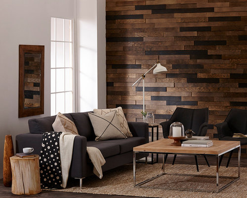 TIMBERWALL DESERT - Real wood paneling peel & stick application (Living  room) - Products - TIMBERWALL DESERT - Real Wood Paneling Peel & Stick Application