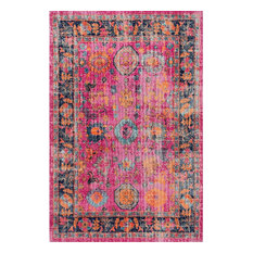 Vintage Bohemian Traditional Area Rug, Pink, 153x227cm