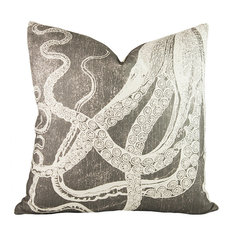 Tentacles Pillow, Cotton, Charcoal