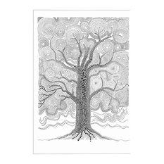 Swedish Mood Oak Tree Print, 70x100 cm