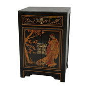 End Table Cabinet in Black Finish