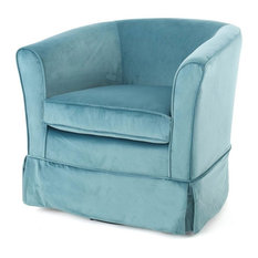 Swivel Chair with Loose Cover in Blue