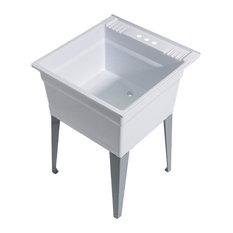 Heavy Duty Sink With Fully Loaded Sink Kit And Steel Leg, Granite